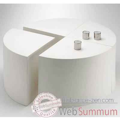 Table Quart de Lune Design FdC - 4000argent