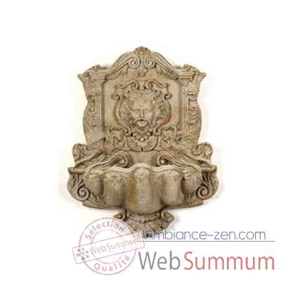 Fontaine-Modele Wind God Wall Fountain, surface marbre vieilli combines avec or-bs2197wwg