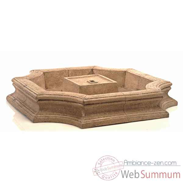 Fontaine-Modele Bath Fountain Basin, surface granite-bs3192gry