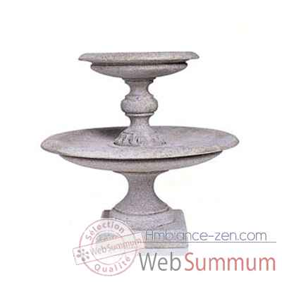 Fontaine-Modèle Turin Fountainhead, surface granite-bs3313gry