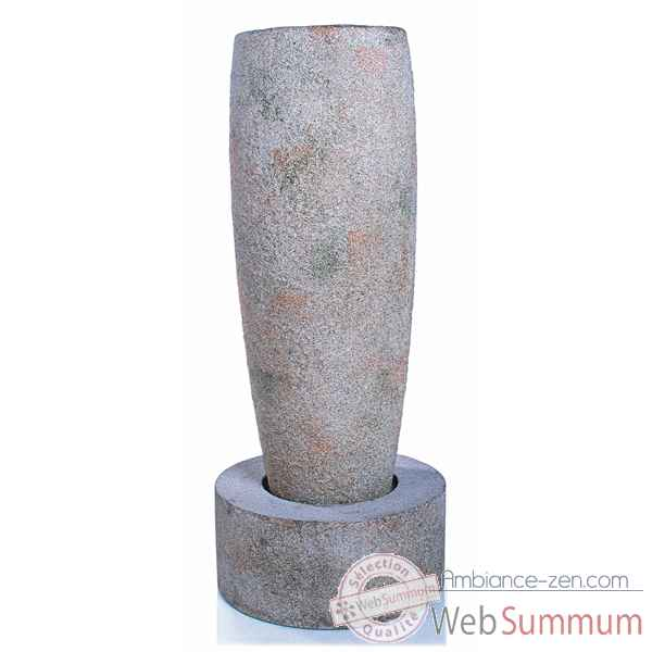 Fontaine-Modele Mati Crucible Fountain, surface granite-bs3503gry