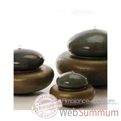 Video Fontaine Heian Fountain large, granite et bronze -bs3366gry -vb