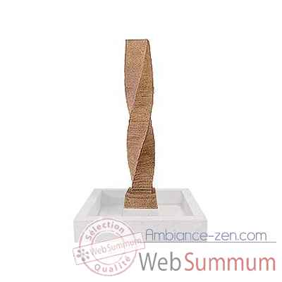 Fontaine Twist Spire Fountainhead, pierre noire -bs3454lava