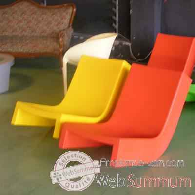 Chaise a bascule Jaune Twist Slide - SD TWS070