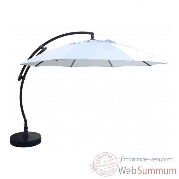 Kit parasol deporte rond gris clair xl375 olefin Easy Sun -10219306