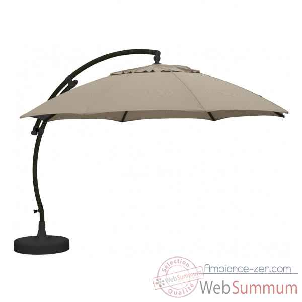 Kit parasol deporte rond taupe clair xl375 olefin Easy Sun -10218420