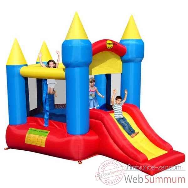 Jeu ch teau gonflable avec toboggan happy hop dans piscine enfant sur ambianc - Chateau gonflable happy hop ...