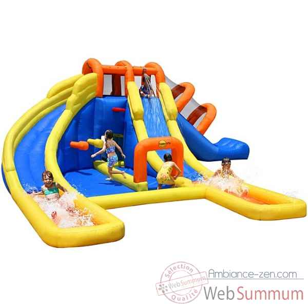 Toy Castles For Little Boys : Jeu gonflable avec toboggan happy hop dans piscine enfant
