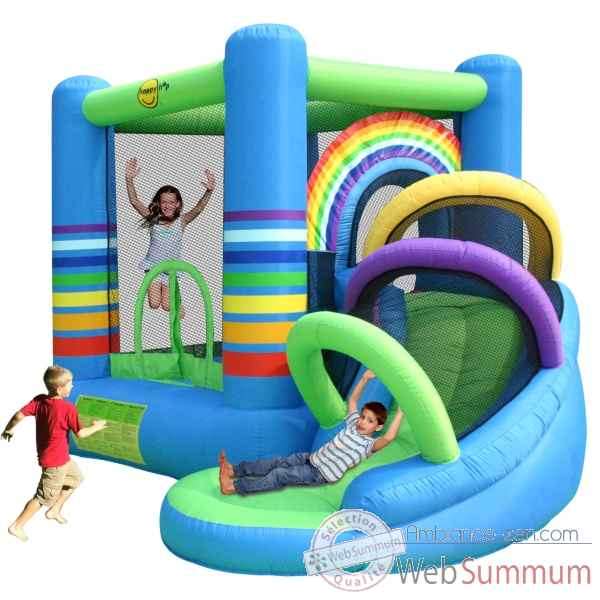 Jeu gonflable rainbow bouncy happy hop dans piscine enfant de jouer sur ambia - Structure gonflable happy hop ...