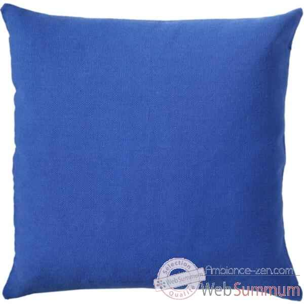 housse de coussin uni cush la siesta mod le bleu dans accessoire sur ambiance zen. Black Bedroom Furniture Sets. Home Design Ideas