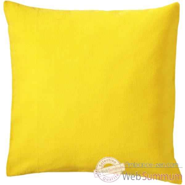 vid o housse de coussin uni cush la siesta mod le jaune un 5 sur ambiance zen. Black Bedroom Furniture Sets. Home Design Ideas
