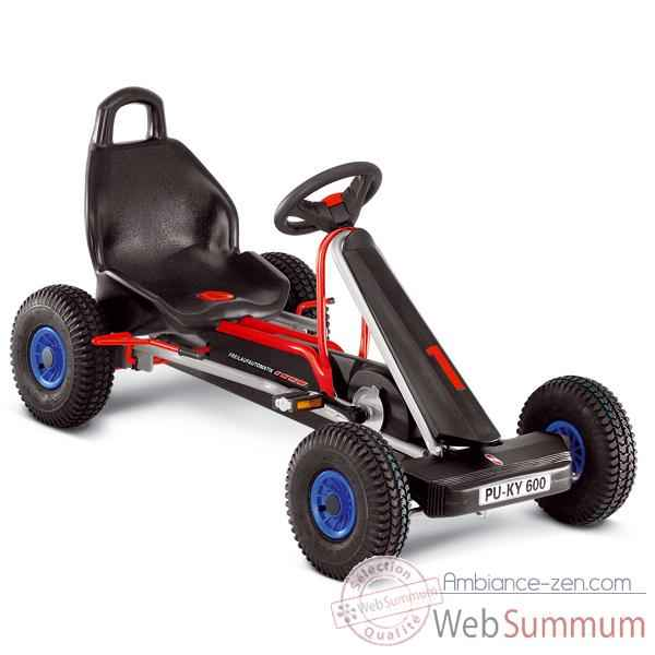 Video Karting a pedales argent 3 vitesses F 600LS -3738