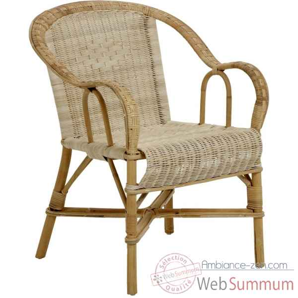 Ensemble 6 fauteuils bac dossier Grand Pere sans filets de couleurs - naturel KOK 978