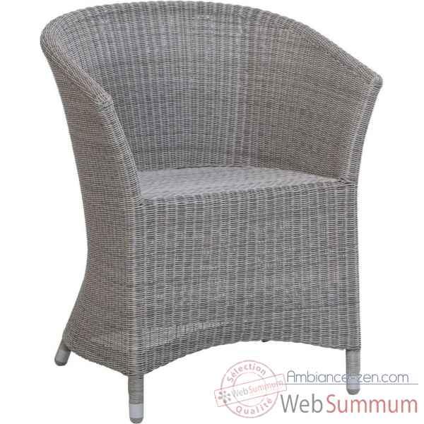 fauteuil bridge de table nemo r sine galet avec coussin tissus gris kok zen de bois. Black Bedroom Furniture Sets. Home Design Ideas