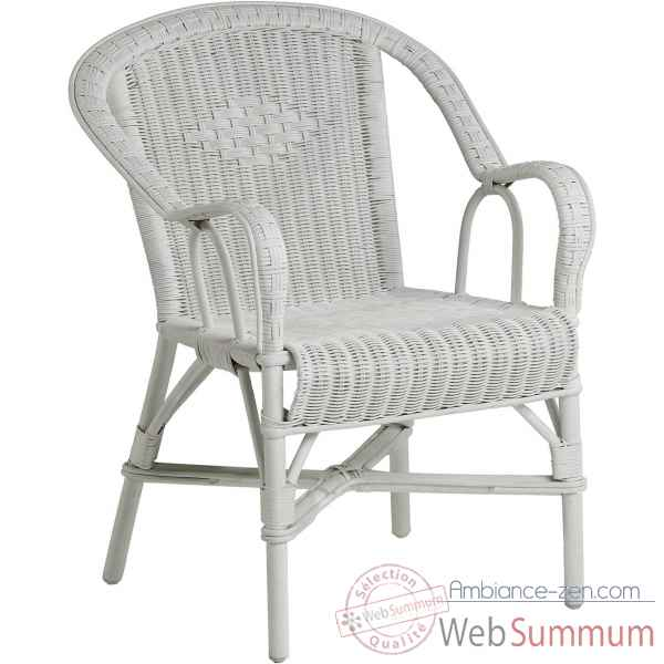 Fauteuil Grand Pere blanc pur KOK 978PW