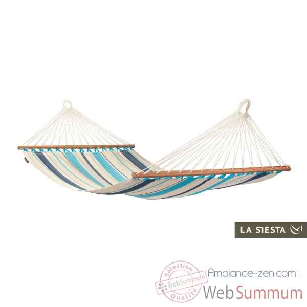 Hamac a barres simple colombien caribena aqua blue La Siesta -CIR11-3