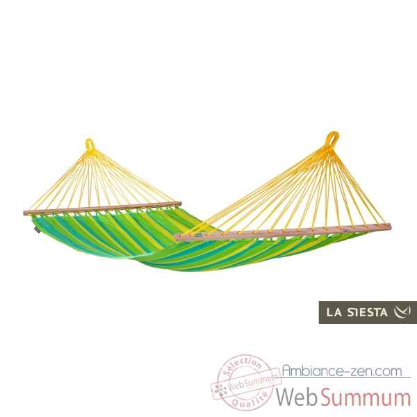 Hamac a barres simple colombien sonrisa lime (resistant aux intemperies) La Siesta -SNR11-4