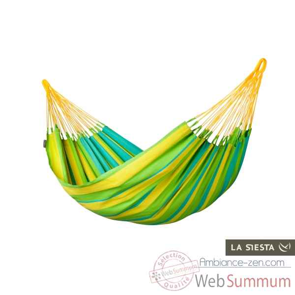 Hamac simple colombien sonrisa lime (resistant aux intemperies) La Siesta -SNH14-4