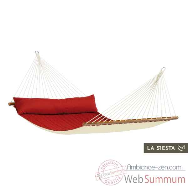 North american style hamac a barres double alabama bordeaux La Siesta -NQR14-21