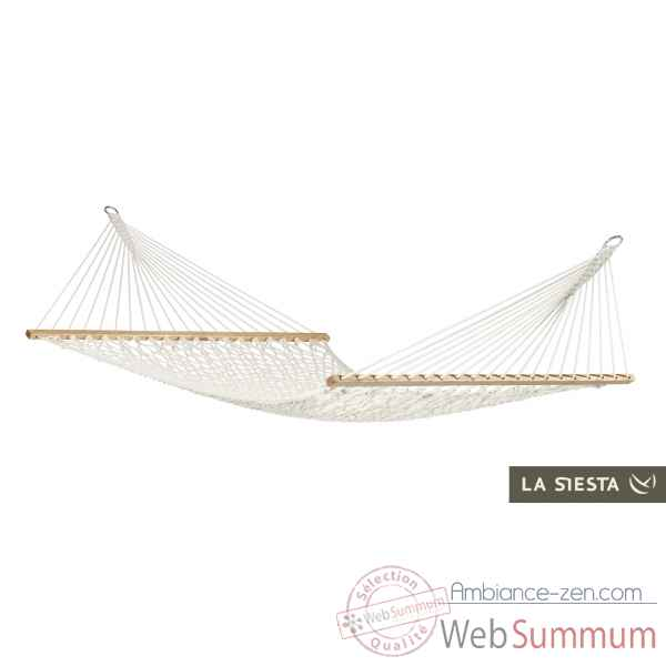 North american style hamac a barres double virginia ecru La Siesta -NRR14-11