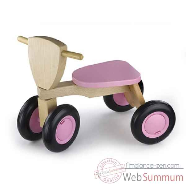 tricycle bois de hetre road star rose New classic toys -1422