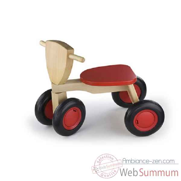 tricycle bois de hetre road star rouge New classic toys -1420