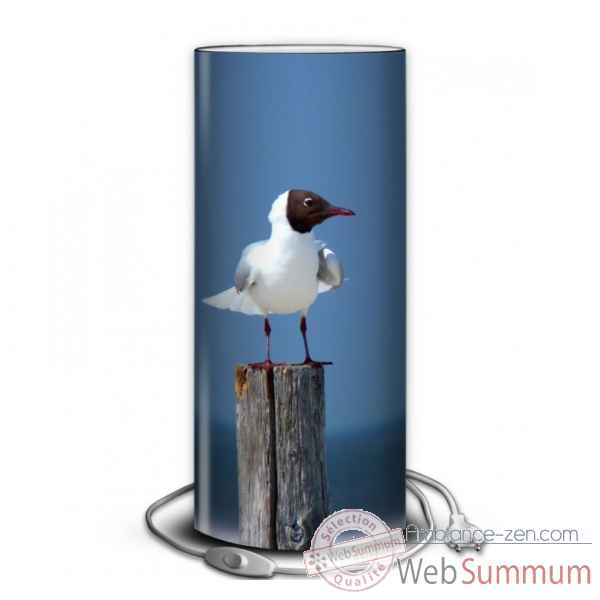 Lampe collection marine mouette sur piquet -MA47