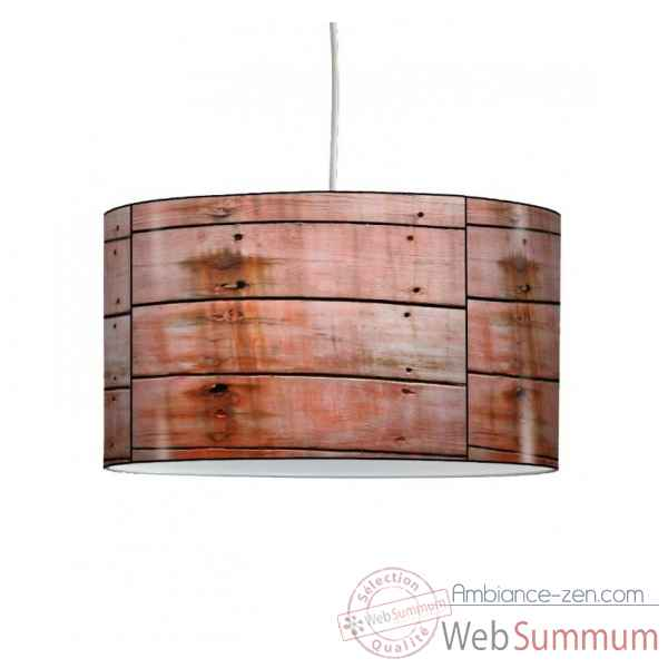 Lampe suspension collection matieres coque bateau en bois -MAT1319SUS