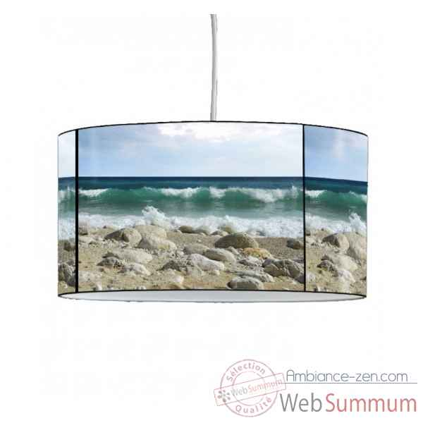 Lampe suspension marine galets et vague -MA1650SUS