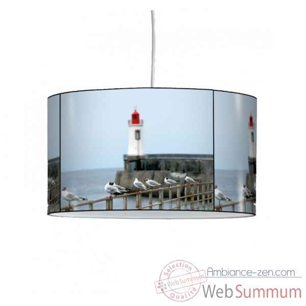 lampe suspension marine phare et mouette ma1201sus dans suspension sur ambiance zen. Black Bedroom Furniture Sets. Home Design Ideas