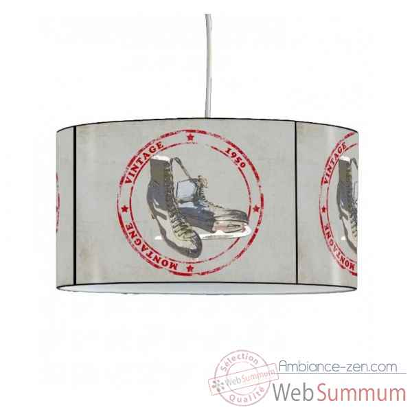 Lampe suspension montagne patins a glace -MO1639SUS