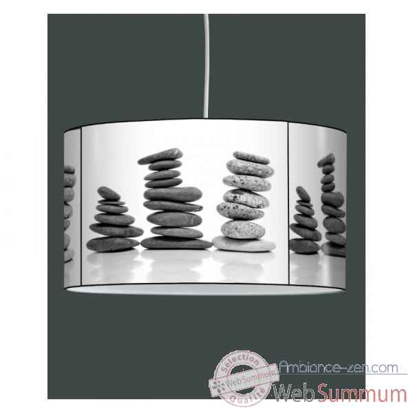 Lampe suspension zen design galets empiles -ZE1324SUS