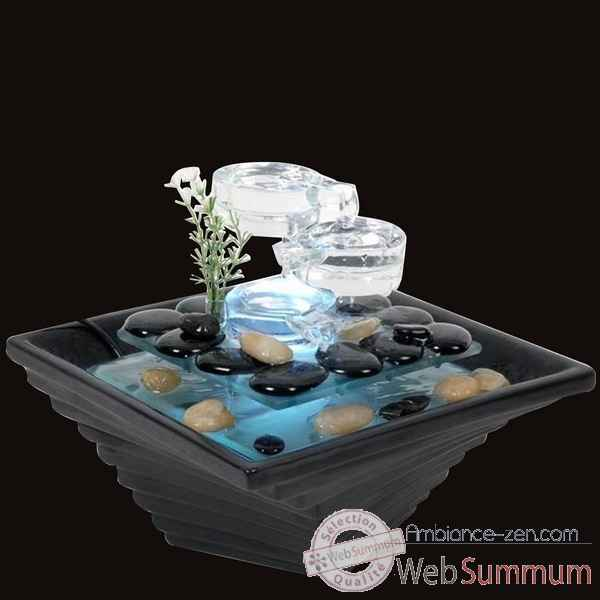 fontaine d 39 int rieur lumineuse dans jardin zen sur. Black Bedroom Furniture Sets. Home Design Ideas