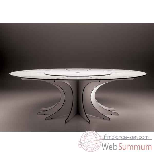 Table arthur extremis pour 10 personnes arow10 dans for Table ronde 8 personnes dimensions