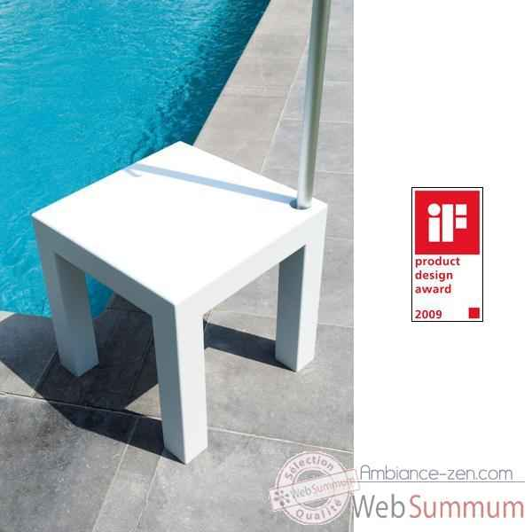 Table pied de parasol Sywawa Table Socle Hole in One blanc tube54 -7245WHITE