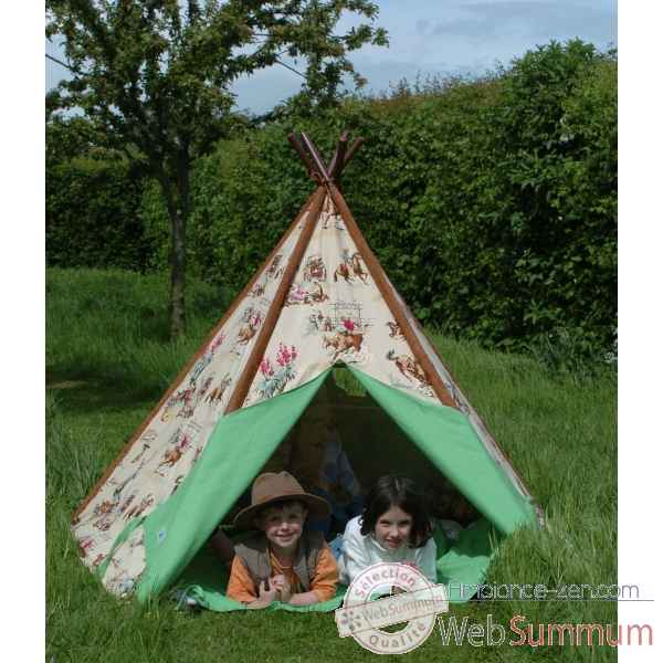 tipi tente pour enfant cow boy the old basket dans tente. Black Bedroom Furniture Sets. Home Design Ideas
