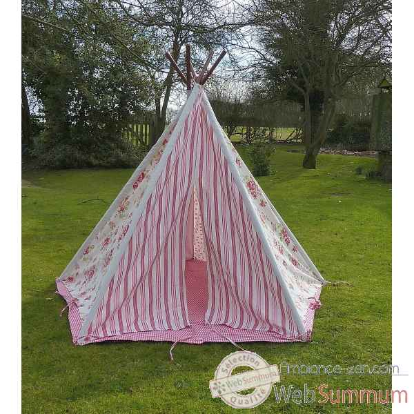 tipi tente pour enfant rose fleurs the old basket dans. Black Bedroom Furniture Sets. Home Design Ideas