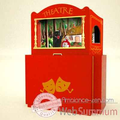 Video Theatre de Marionnette valise en bois Animascena -14422