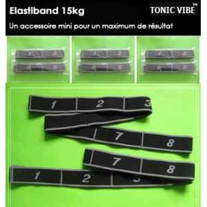 Lot de 10 pc bande elastique tonic vibe 15 kg best seller -TV-PILATES-1211