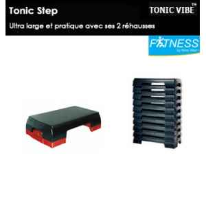 Lot de 10 tonic step : step avec rehausse tonic vibe -TV-PILATES-1224