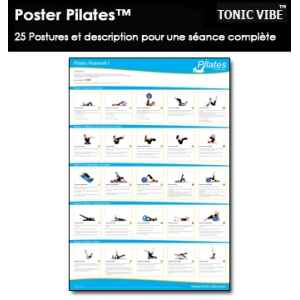 Poster pilates matwork niveau 1 : poster pilates ultra complet Tonic Vibe -TV-PILATES-1208