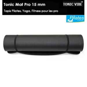 Tonic mat : tapis pilates pro haut qualite 15 mm d'epaisseur Tonic Vibe -TV-PILATES-1225